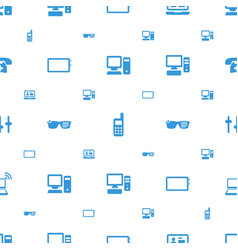 display icons pattern seamless white background vector image