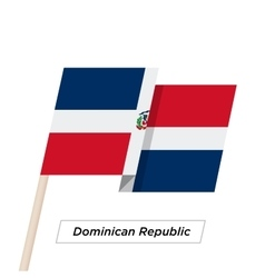 Dominican Republic Ribbon Waving Flag Isolated on vector image