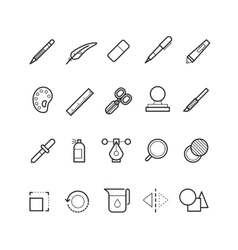 Drawing design tools line text editor vector