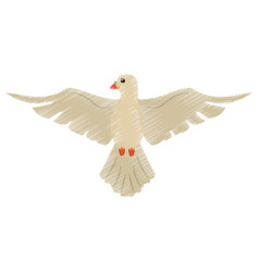 Drawing holy spirit dove symbol vector
