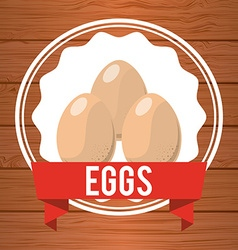 eggs label vector image