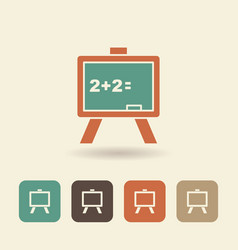 flat icon of a school board vector image