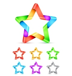 Folded Color Paper Stars vector