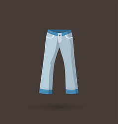 Front back and side views of mens jeans vector