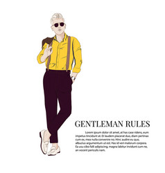 gentleman look cool business vector image
