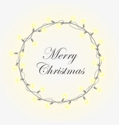 glowing christmas wreath vector image