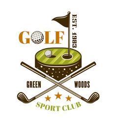 golf colored emblem label badge or logo vector image