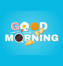 Good morning concept vector