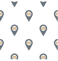 Gray map pointer with book pattern flat vector