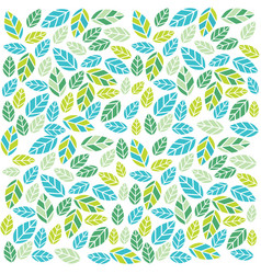 green plant leaves pattern vector image