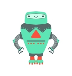 Grenn Giant Friendly Android Robot Character vector