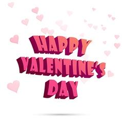 Happy Valentine s Day sign Typography vector image