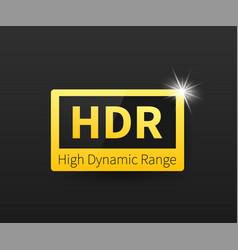 High dynamic range imaging high definition hdr vector