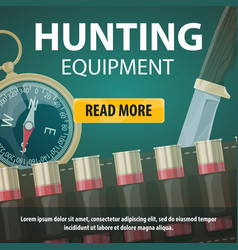 Hunting equipment store web poster vector