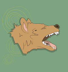 Hyena portrait on a colored background vector
