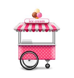 Ice cream cart isolated on white vector