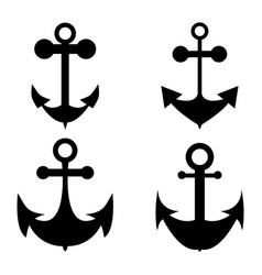 icon set of anchors vector image