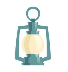 icon vintage oil lamp old gas lantern vector image