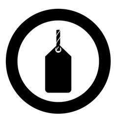 label on the rope icon black color simple image vector image