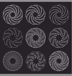 logo flower silhouette icon set vector image