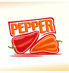 Logo for pepper vector