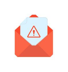 mail symbol envelope icon warning envelope vector image