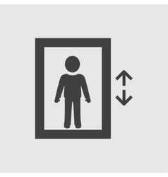 Man in elevator icon vector image