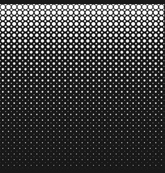 monochrome geometrical halftone dot pattern vector image