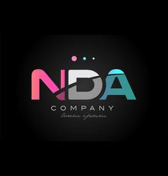 Nda n d a three letter logo icon design vector