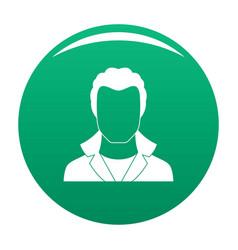 New man avatar icon green vector