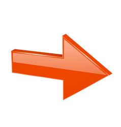 Orange 3d arrow vector
