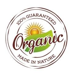 Organic natural food label vector