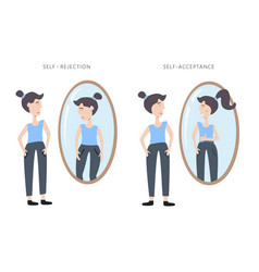 os self rejection and self acceptance vector image