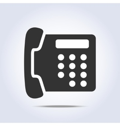 Phone retro icon in gray colors vector image