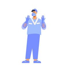Plastic surgery specialist composition vector