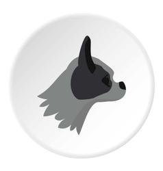 Pug dog icon flat style vector image