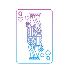 queen of hearts french playing cards related icon vector image