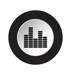 round button icon - mixing console equalizer vector image