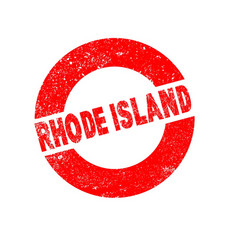 rubber ink stamp rhode island vector image