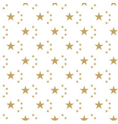 Seamless golden background with stars national day vector