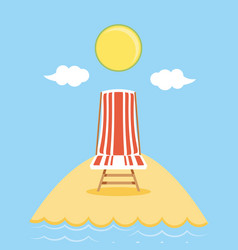 seascape beach with chair scene vector image