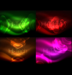 Set of abstract backgrounds blurred arrows in vector
