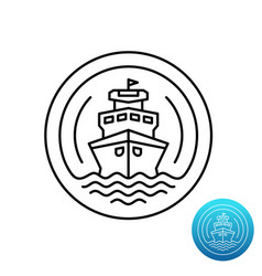 ship cruise logo sea shipping line symbol vector image