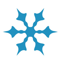 simple isolated snowflake vector image