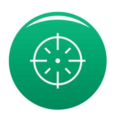 Specific target icon green vector