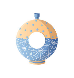 style modern donut vase interior room design vector image