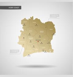 Stylized ivory coast map vector