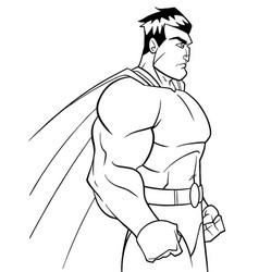 Superhero side profile line art vector