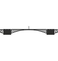 Swing bridge vector