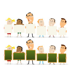 Teachers and child classroom set vector